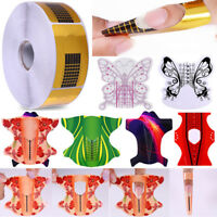 20/100/500Pcs Nail Form for Acrylic/UV Gel Nail Tips Extension Nail Art Tools