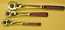 Craftsman Industrial 1/2  3/8  1/4   Drive Teardrop Ratchet Set MADE IN USA NEW!