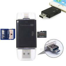 USB Flash Drive TF SD Memory Card Reader Adapter for iPhone 8 7 6 iPad Air Mini