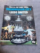 Best Price - Birmingham City v Leeds United 1972 FA Cup Semi Final