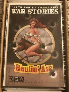 GARTH ENNIS WAR STORIES 8 BOMBSHELL BATTLE DAMAGED PIN UP NOSE ART VARIANT 2015