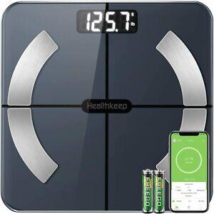Scales for Body Weight Healthkeep Bathroom Scale Smart Wireless Digital Scale w