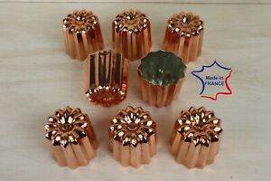 8 Large 2.1 inches Copper canele moulds canneles molds canelés made in France
