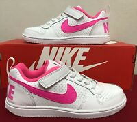 Nike Court Borough Low White/Pink Blast for Girls Trainers