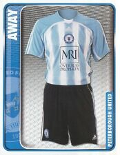 216 AWAY KIT ENGLAND PETERBOROUGH UNITED STICKER FL CHAMPIONSHIP 2010 PANINI