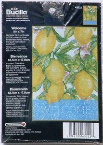 BUCILLA ~ WELCOME Lemons Counted Cross Stitch Kit ~ NEW