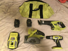 Ryobi ONE+ P883 18V Lithium-Ion Combo Kit - 8 Pieces (Two Batteries Included!)