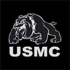 "USMC US Marine Bulldog Decal Logo White 5"" Window Car Wall"