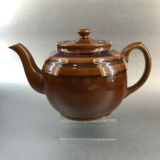 Sadler Vintage Green Striped Brown Betty 5 Cup Teapot Pottery 726 Tea England