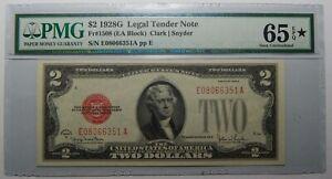 1928G $2 LEGAL TENDER NOTE PMG 65 (STAR) EPQ UNC Fr#1508 ~ S/N E080066351A ppE