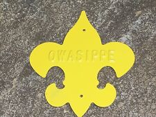 Vintage Owasippe Trail Marker Boy Scouts Chicago Area Council BSA Embossed Metal