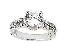 1.00Ct Round Cut Diamond 2Row Engagement Ring Solid 950 Platinum G SI1