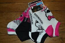 5 Pairs of Monster High No Show Socks Size 9-11 Licensed Girly Skull Bow MH