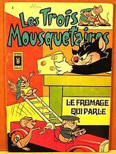 """BD brochée aredit """" les trois mousquetaires """" n°8 / 1968 comics humour"""