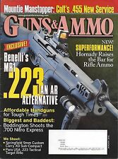 GUNS & AMMO January 2010 Benelli MR1 223 Colt .455 Afordable Handguns
