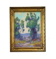 James Slay Listed California Plein Air Landscape Oil Painting Old Vintage Frame