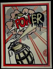 Shepard Fairey (Obey) - Pow(er) - Orig.Siebdruck - Handsign., num., dat.