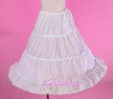 Hot Age 2-14 Flower Girl 3-Hoop A-Line Crinoline Petticoat Underskirt Children