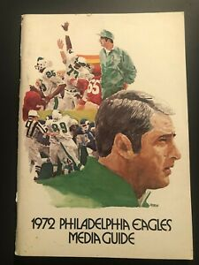 1972 PHILADELPHIA EAGLES Media Guide Yearbook STEVE ZABEL Bill Bradley BALLMAN