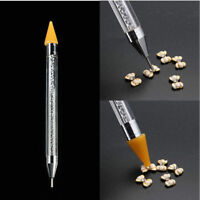 Rhinestone Dual-ended Dotting Pen Studs Picker Wax Pencil Manicure Nail Art Tool