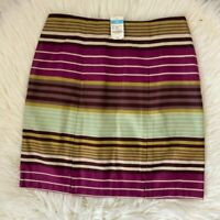J McLaughlin NEW WITH TAGS lucia skirt in fuschia stripe size 12
