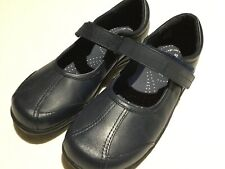 School Shoes Stride Rite Navy Leather Jillian Youth Girls  2M