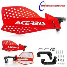 NEW ACERBIS X-ULTIMATE RED / WHITE HANDGUARDS HONDA CRF250 CRF450 2017