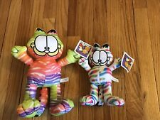 X2 Garfield Lot Plush Graffiti Colorful Toy Factory Odie TV Show Cartoon Doll