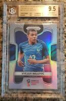 2018 PANINI PRIZM WORLD CUP KYLIAN MBAPPE SILVER PRIZM REFRACTOR RC BGS 9.5