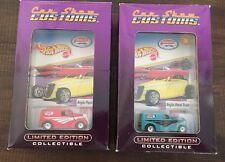 Hot Wheels ISCA Car Show Customs: Anglia Panel Truck, Lot of 2, Blue, Red