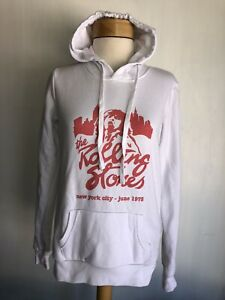 THE ROLLING STONES (2018) Official Mick Jagger New York '75 Hoodie Sweatshirt XS