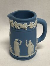 Wedgwood Blue Jasperware Miniature Jug Pitcher 2 3/8""