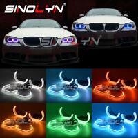 RGB LED Angel Eyes Halos DTM Style Multi-Colors For BMW F30 E60 E82 E90 E92 M5