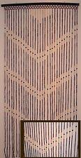 Natural Bamboo & Wood Beaded Door Curtain W/ V Pattern.  # 69-919