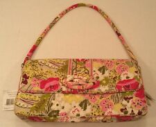 Vera Bradley Knot Just a Clutch Shoulder Bag PURSE Make Me Blush Pink Green