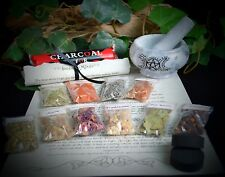 Witches Incense Making Kit with Mortar & Pestle Wicca Pagan Triple Moon Gift