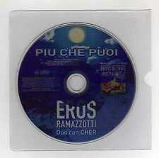 EROS RAMAZZOTTI & CHER Only Spain Promo Cd Single PIU CHE PUOI 1 track  2000
