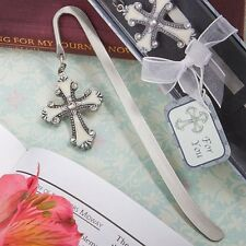 Cross Themed Bookmark Favor Wedding Reception Religious Baptism Bridal Party