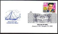Elvis Presley #2721 Chesapeake Cachet FDC Unaddressed Music Cancel (LOT 310)