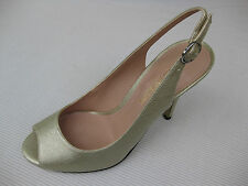 Enzo Angiolini Womens Shoes $95 NEW Mykell Light Gold Pebble Slingback 8 M