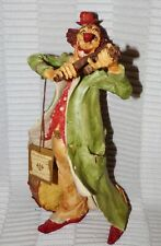 "M.E. Duncan Royale Art Collections 12"" Clown Playing Violin Capodimonte Style"