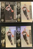 MICHAEL PORTER JR. LOT(4) 2019-20 PANINI ILLUSIONS #142 BLACK PARALLEL + BASE(3)