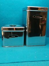 VINTAGE LINCOLN BEAUTY WARE MID CENTURY CANISTER SET CHROME