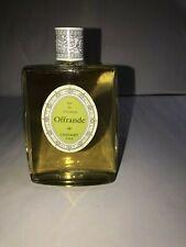 "Grand Flacon ancien Eau de Cologne "" Offrande "" de CHERAMY H 14.5 cm"