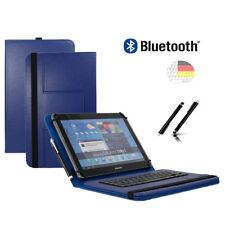 "Tastatur Hülle für Samsung Galaxy Tab 2 P5110 Bookcover BT Blau 10.1"""
