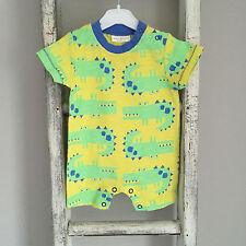 Baby Boy Next Romper Size Newborn - 1 Month Yellow Crocodile Green Summer