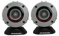 "2) New Pyramid TW28 3.75"" 300W Super Car Audio Horn Bullet Aluminum Tweeters"