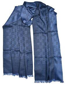 Gucci Sciarpa unisex Blu 70 X 200 cm