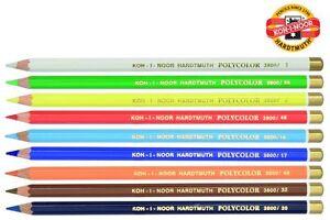 Colored Pastel Pencil Crayon KOH-I-NOOR POLYCOLOR 3800 Individual
