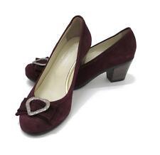 Schuhe Trachtenschuhe aubergine 39 NEU Wildleder Dirndlschuhe Trachten Pumps